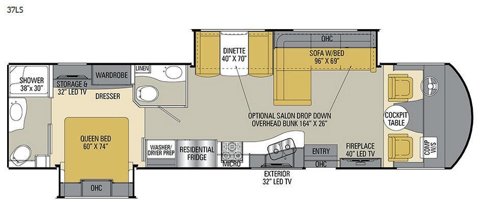 Mirada Select 37LS Floorplan Image