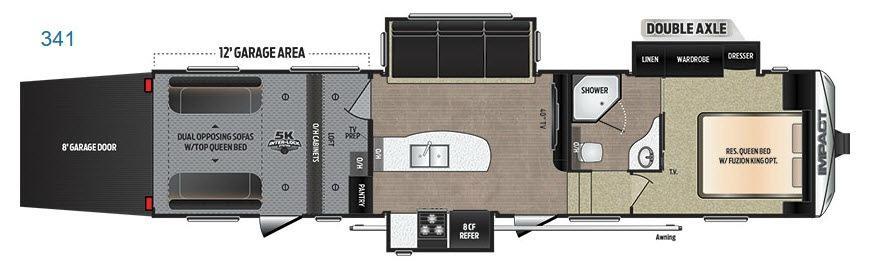 Impact 341 Floorplan Image