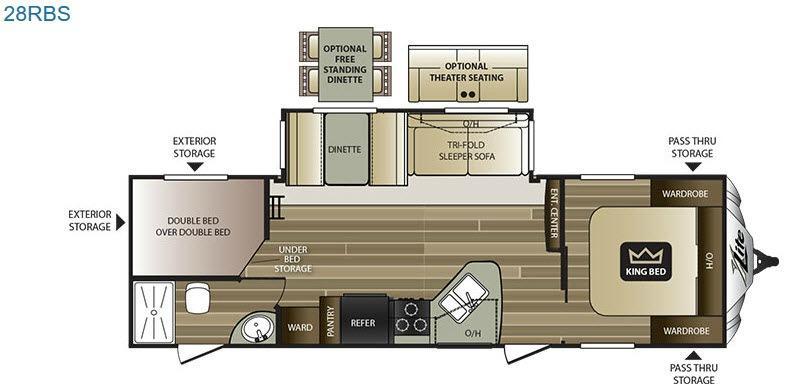 Cougar X-Lite 28RBS Floorplan Image