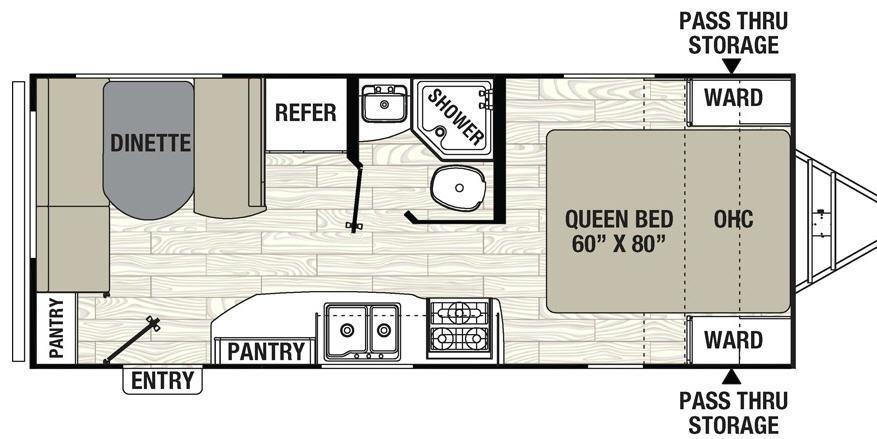 Freedom Express 204RD Floorplan Image