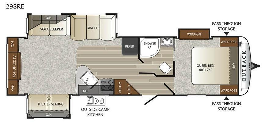 Outback 298RE Floorplan Image
