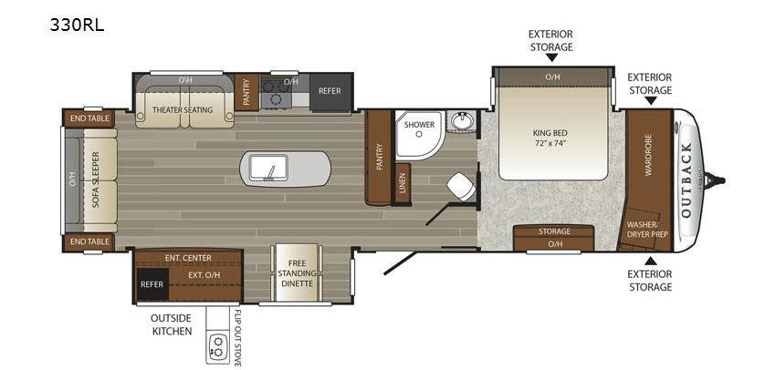 Outback 330RL Floorplan Image
