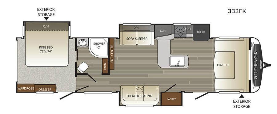 Outback 332FK Floorplan Image