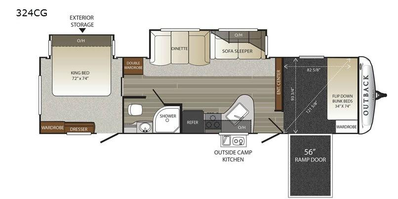 Outback 324CG Floorplan Image
