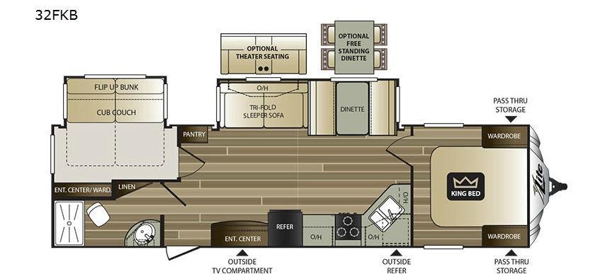 Cougar X-Lite 32FKB Floorplan Image