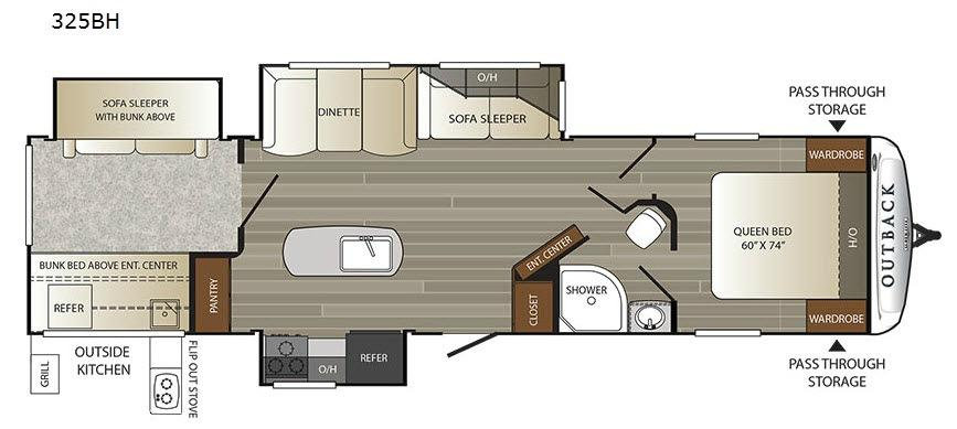 Outback 325BH Floorplan Image