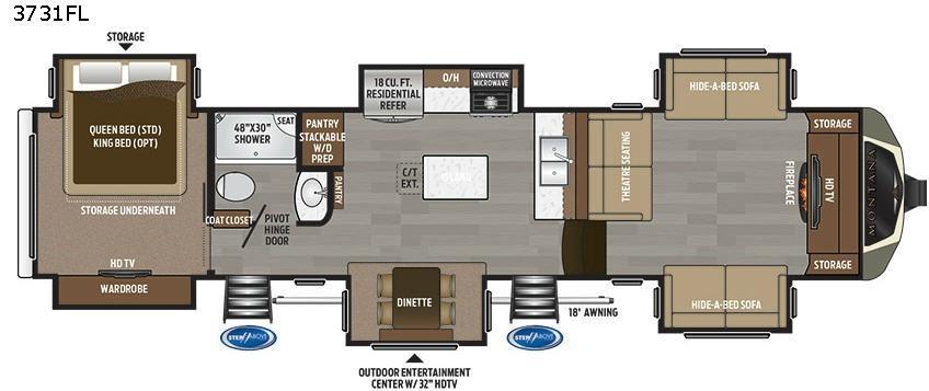 Montana 3731FL Floorplan Image