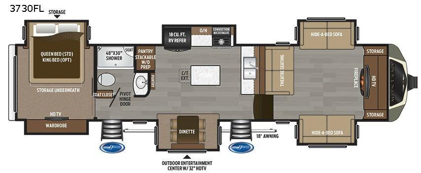 Montana 3730 FL Floorplan Image