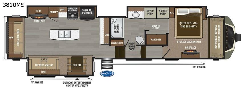Montana 3810 MS Floorplan Image