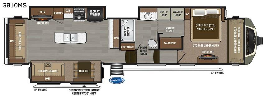 Montana 3810MS Floorplan Image