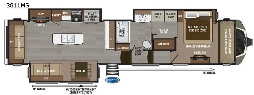 Montana 3811 MS Floorplan Image
