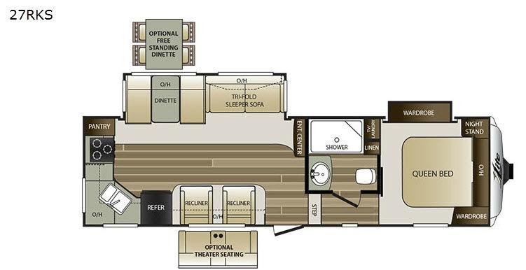 Cougar X-Lite 27RKS Floorplan Image