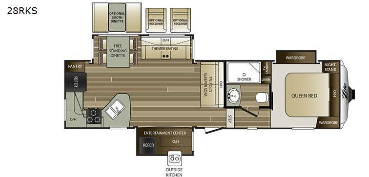 Cougar X-Lite 28RKS Floorplan Image