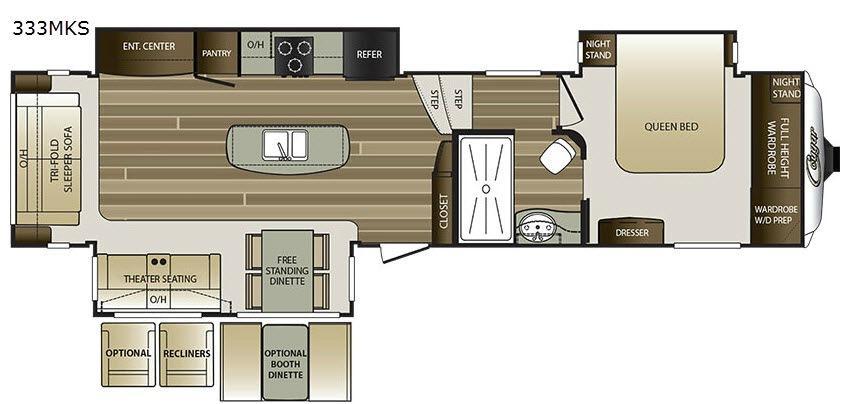 Cougar 333MKS Floorplan Image