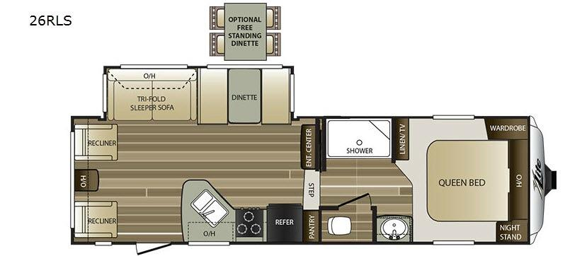 Cougar X-Lite 26RLS Floorplan Image