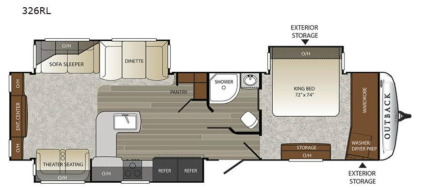 Outback 326RL Floorplan Image