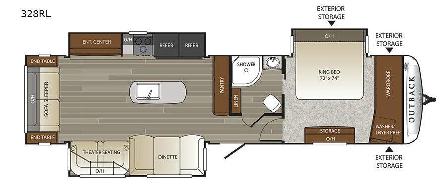 Outback 328RL Floorplan Image
