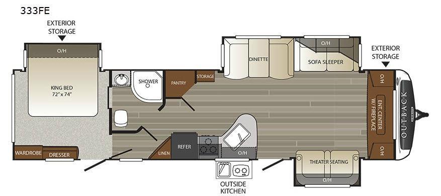Outback 333FE Floorplan Image