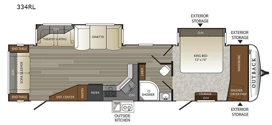Outback 334RL Floorplan Image