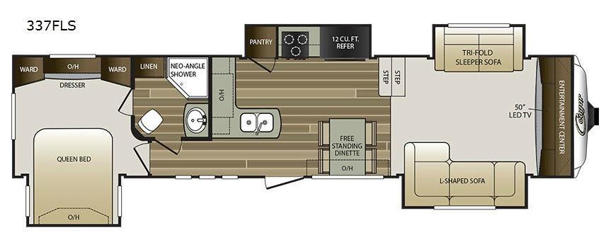 Cougar 337FLS Floorplan Image