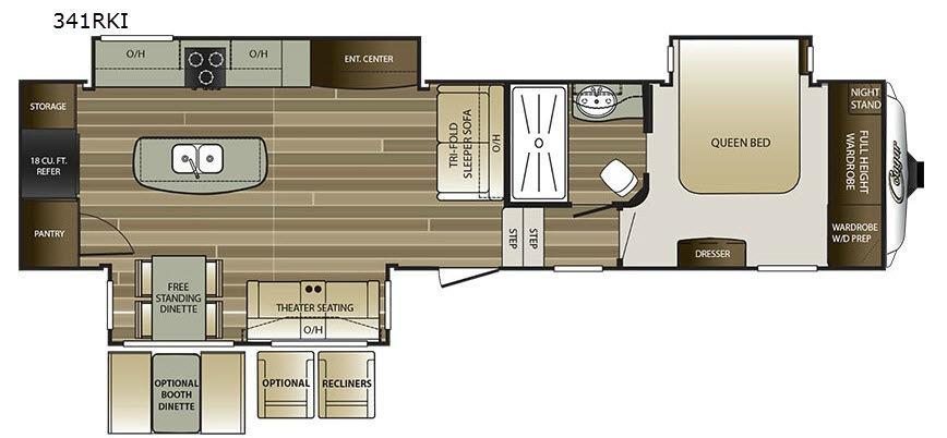 Cougar 341RKI Floorplan Image