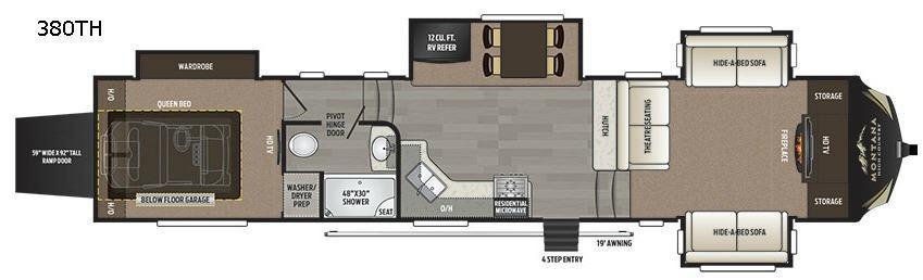 Montana High Country 380TH Floorplan Image