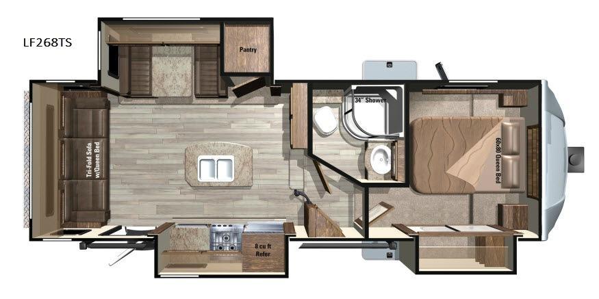Open Range Light LF268TS Floorplan Image