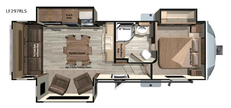 Open Range Light LF297RLS Floorplan Image