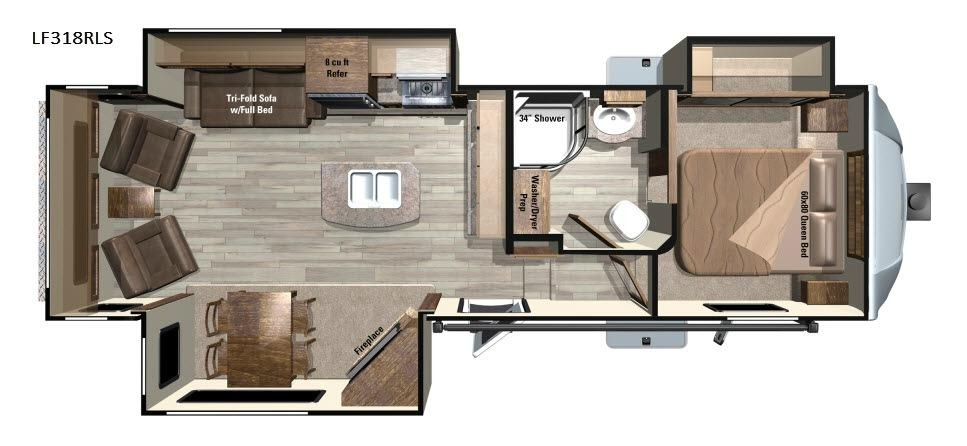 Open Range Light LF318RLS Floorplan Image
