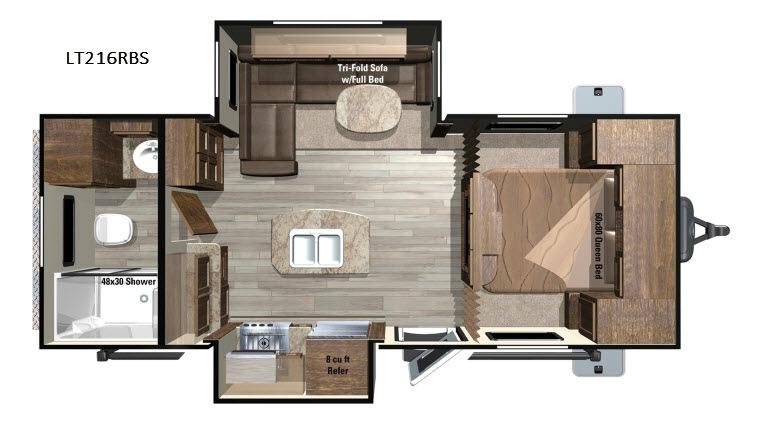 Open Range Light LT216RBS Floorplan Image