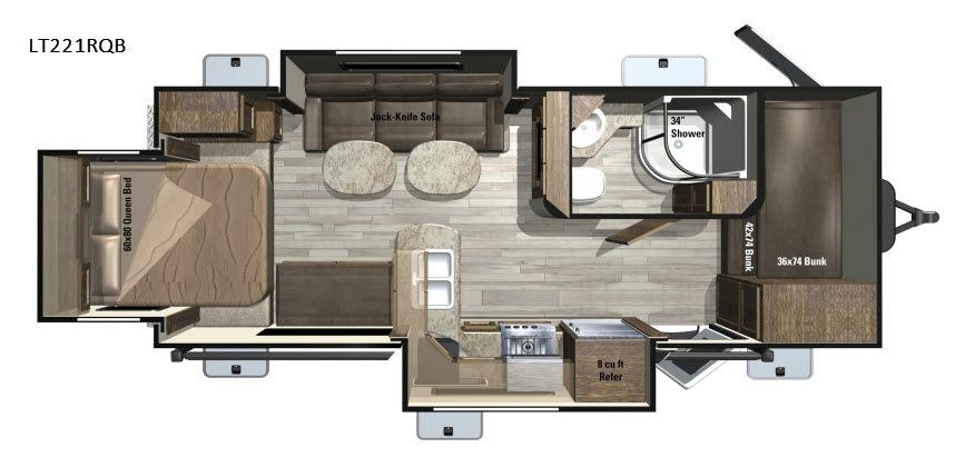Open Range Light LT221RQB Floorplan Image