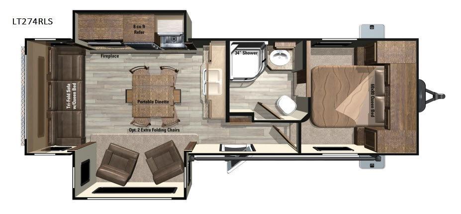 Open Range Light LT274RLS Floorplan Image