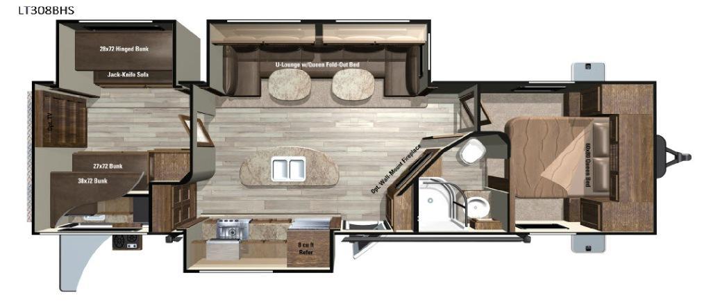 Open Range Light LT308BHS Floorplan Image