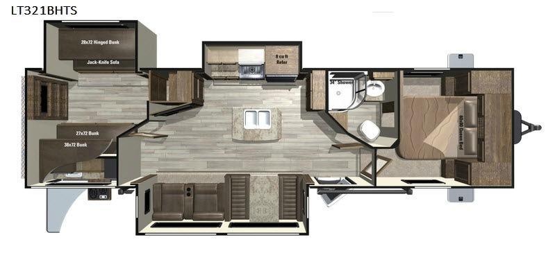 Open Range Light LT321BHTS Floorplan Image