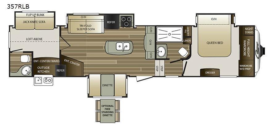 Cougar 357RLB Floorplan Image