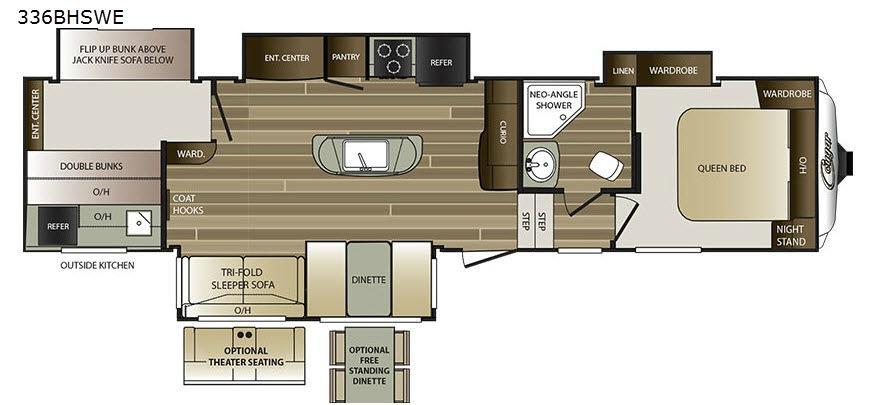 Cougar 336BHSWE Floorplan Image