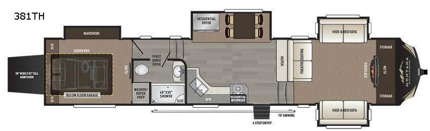 Montana High Country 381TH Floorplan Image