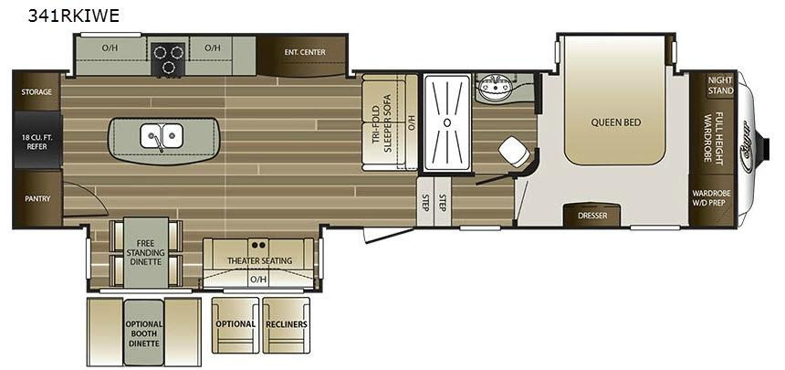 Cougar 341RKIWE Floorplan Image