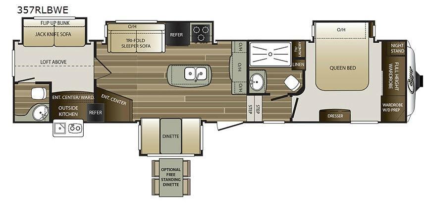 Cougar 357RLBWE Floorplan Image