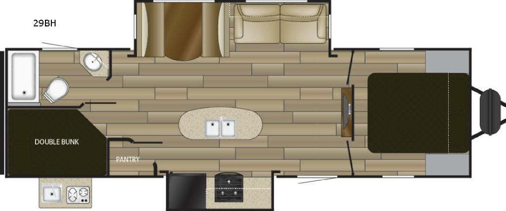 Radiance Ultra Lite 29BH Floorplan Image