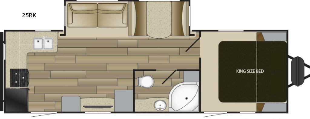 Radiance Ultra Lite 25RK Floorplan Image