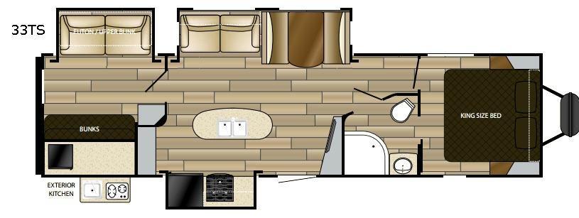 Radiance Ultra Lite 33TS Floorplan Image