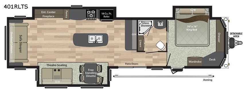 Residence Signature Series 401RLTS Floorplan Image
