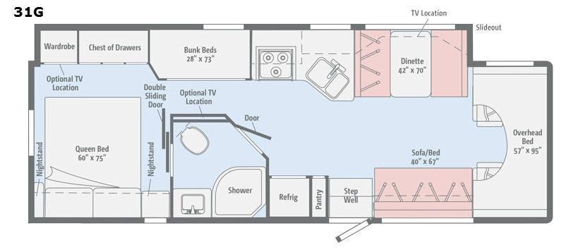 Spirit 31G Floorplan Image