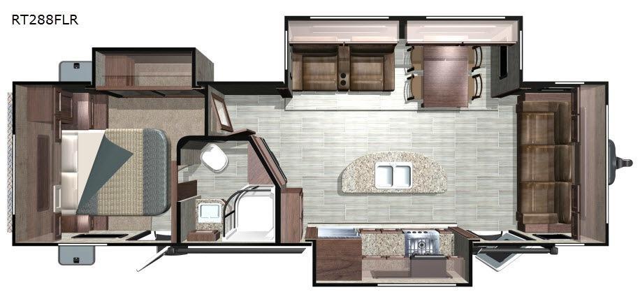 Open Range Roamer RT288FLR Floorplan Image