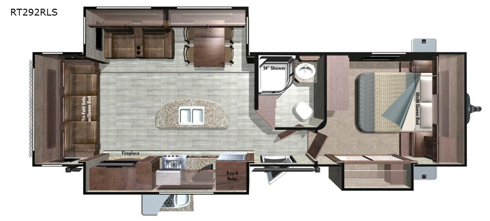 Open Range Roamer RT292RLS Floorplan Image
