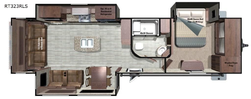 Open Range Roamer RT323RLS Floorplan Image