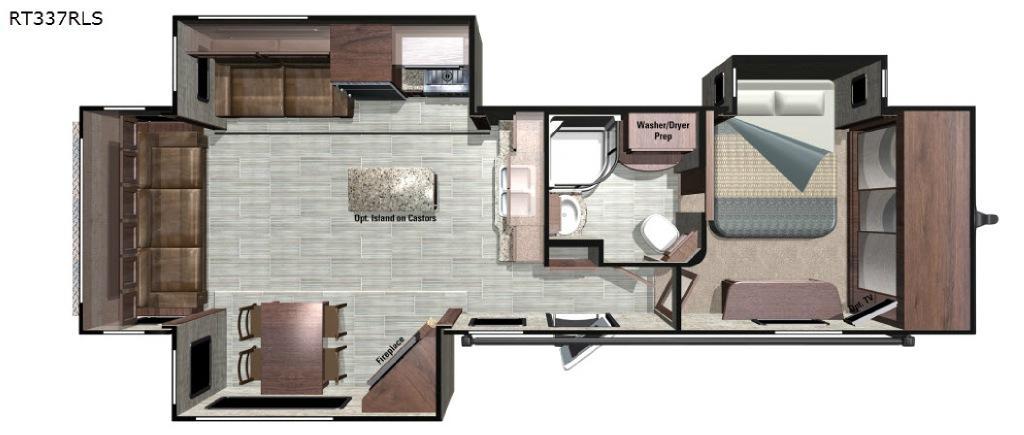 Open Range Roamer RT337RLS Floorplan Image