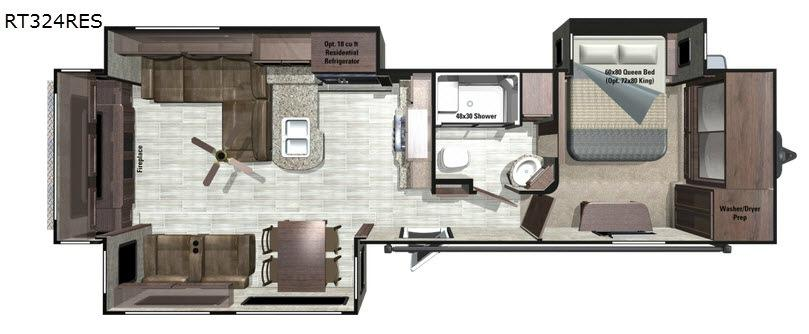 Open Range Roamer RT324RES Floorplan Image