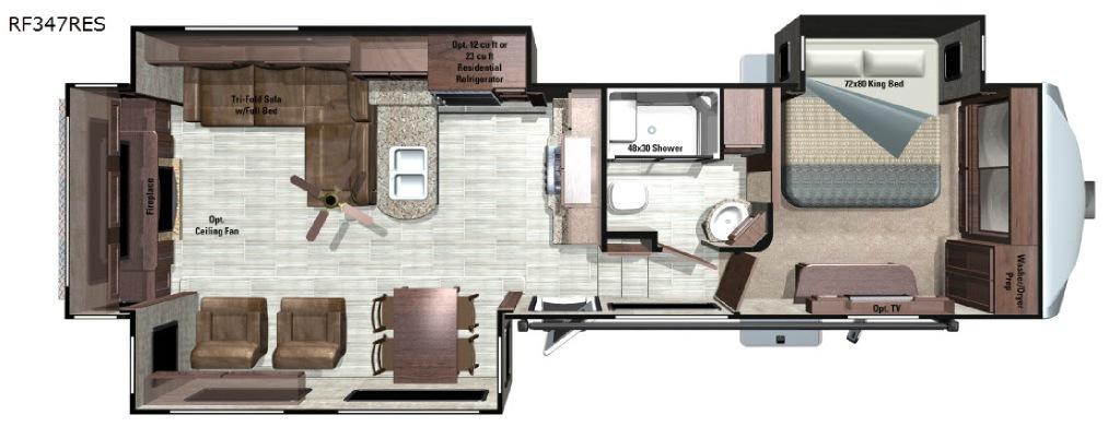 Open Range Roamer RF347RES Floorplan Image